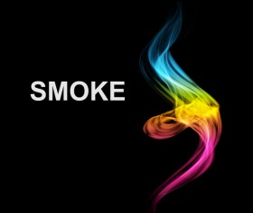 Colorful smoke abstract background vector 02
