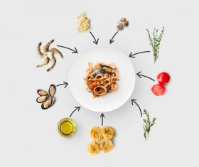 Cooking ingredients for Italian food Stock Photo 02