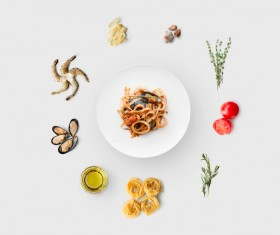 Cooking ingredients for Italian food Stock Photo 06
