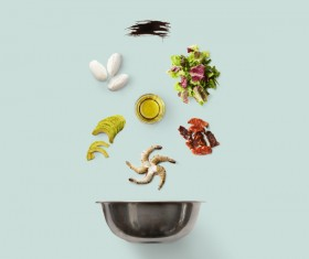 Cooking ingredients for Italian food Stock Photo 08