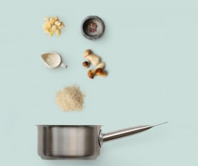 Cooking ingredients for Italian food Stock Photo 09