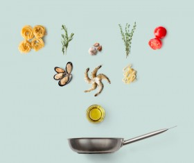 Cooking ingredients for Italian food Stock Photo 10