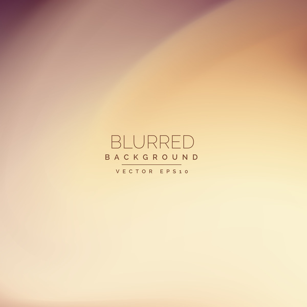 Cream color blurred effect background vector