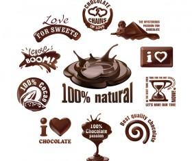 Creative chocolate logos vector set 01