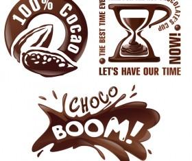 Creative chocolate logos vector set 02