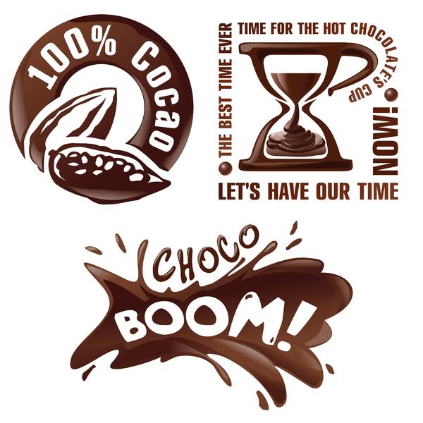 Set Of Beauty Logo Template: Creative Chocolate Logos Vector Set 02 Free Download