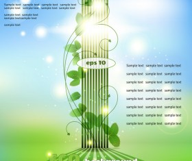 Creative eco background vector template 01