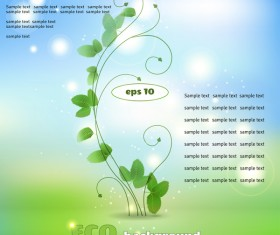 Creative eco background vector template 02