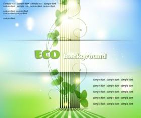 Creative eco background vector template 03