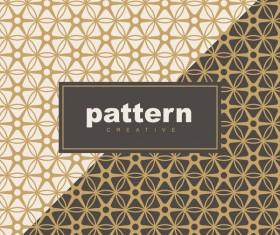 Creative golden seamless pattern vector 01