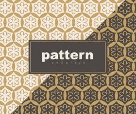 Creative golden seamless pattern vector 02
