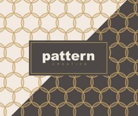 Creative golden seamless pattern vector 03