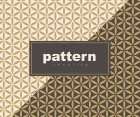 Creative golden seamless pattern vector 06