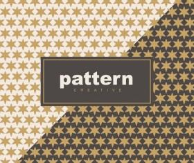 Creative golden seamless pattern vector 07