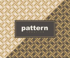Creative golden seamless pattern vector 08