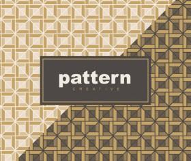 Creative golden seamless pattern vector 09