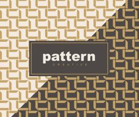 Creative golden seamless pattern vector 10