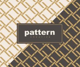 Creative golden seamless pattern vector 11