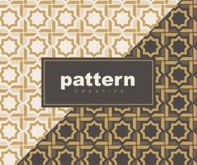 Creative golden seamless pattern vector 12