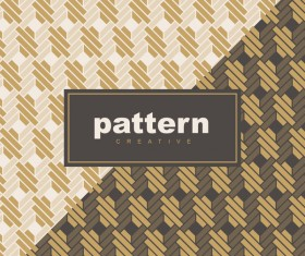 Creative golden seamless pattern vector 13