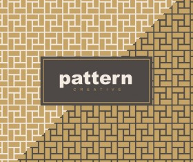 Creative golden seamless pattern vector 15