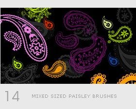 Creative paisley photoshop brushes