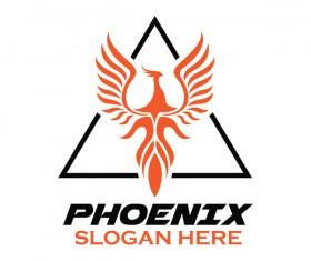 Creative phoenix logo set vector 09