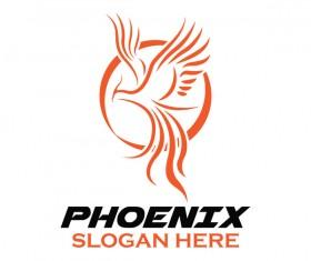 Creative phoenix logo set vector 10