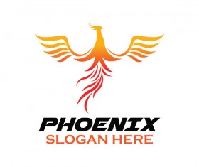 Creative phoenix logo set vector 11