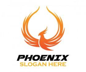Creative phoenix logo set vector 12