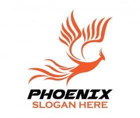 Creative phoenix logo set vector 13