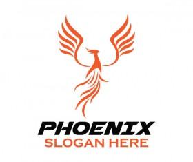 Creative phoenix logo set vector 14