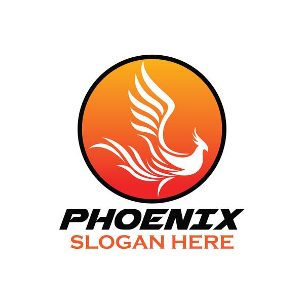Creative phoenix logo set vector 15