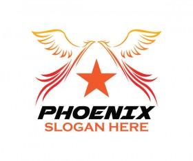 Creative phoenix logo set vector 16