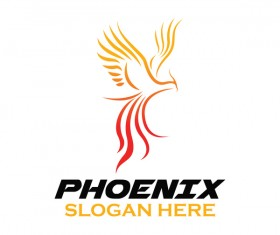 Creative phoenix logo set vector 17