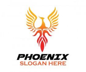 Creative phoenix logo set vector 18