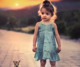 Cute beautiful little girl HD picture