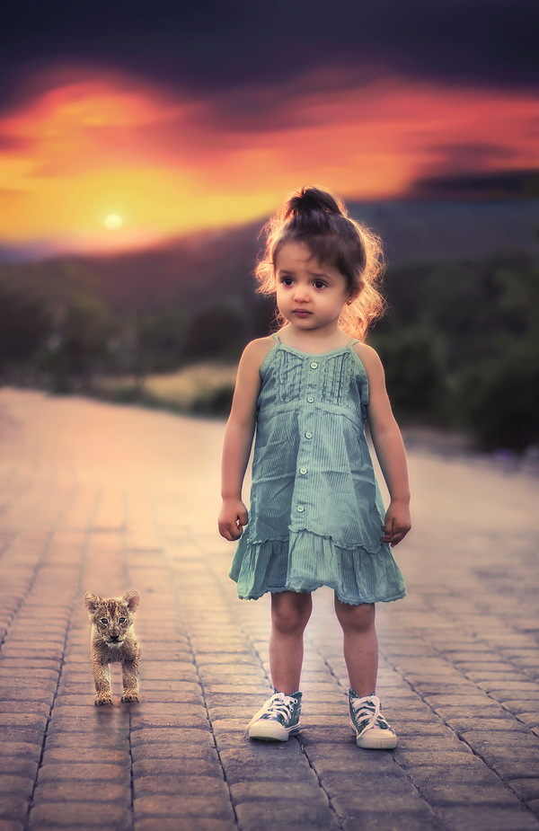 Cute beautiful little girl HD picture