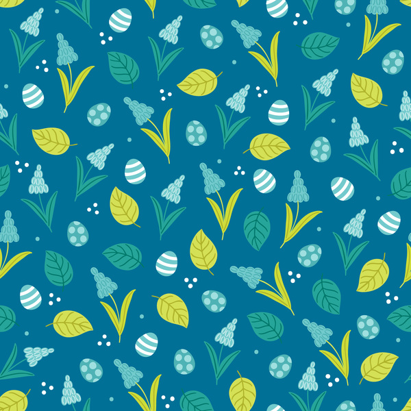 Cute easter seamless pattern design vector 07