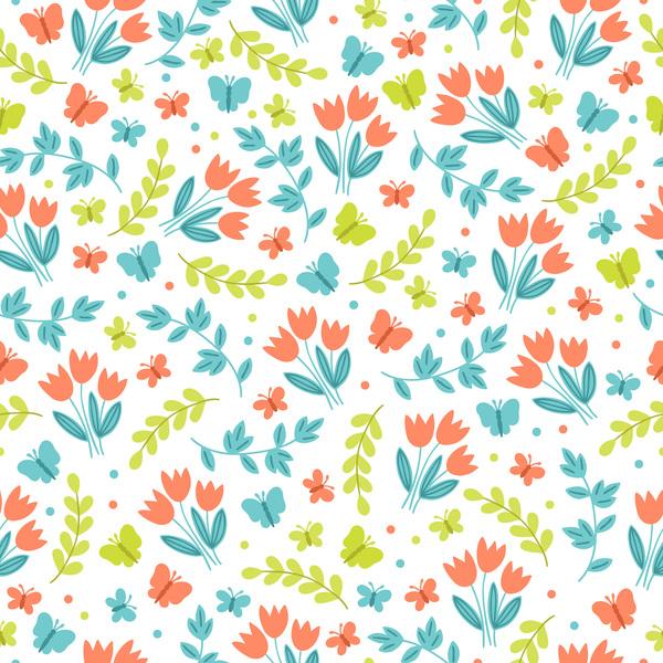 Cute easter seamless pattern design vector 08