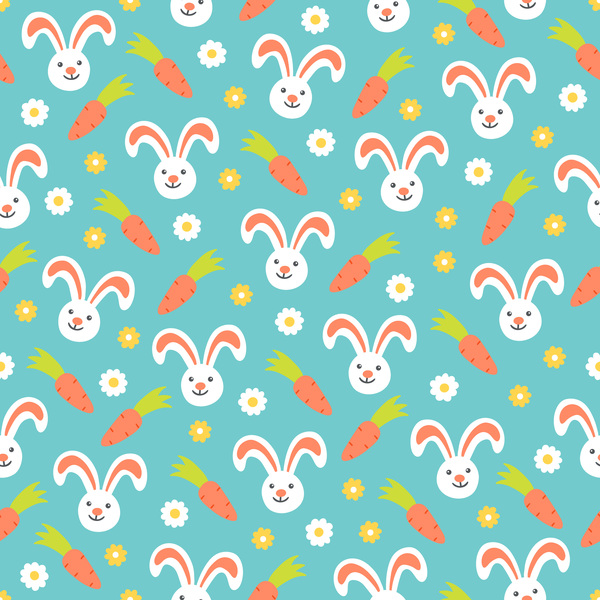 cute easter seamless pattern design vector 09 free download