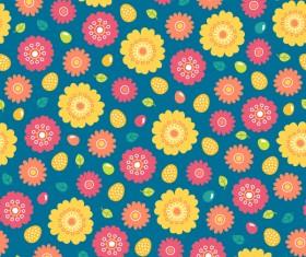 Cute easter seamless pattern design vector 12