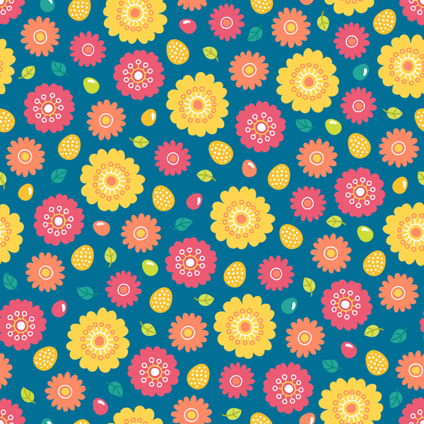 cute easter seamless pattern design vector 12 free download