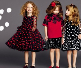 Cute styling little girl HD picture