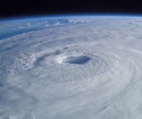 Cyclone cloud system Stock Photo 02