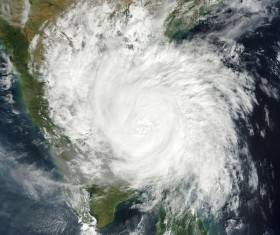 Cyclone cloud system Stock Photo 03