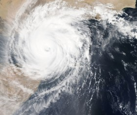 Cyclone cloud system Stock Photo 04