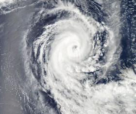 Cyclone cloud system Stock Photo 05