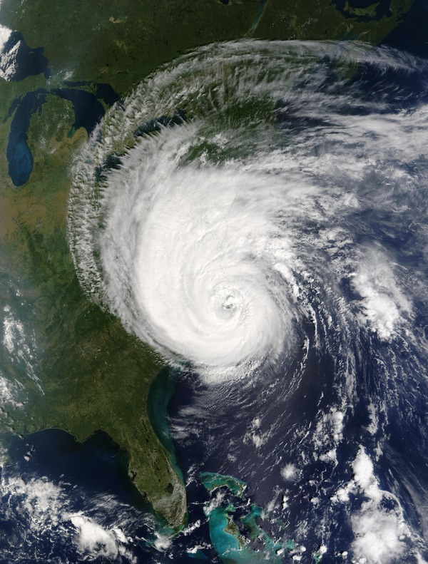Cyclone cloud system Stock Photo 06