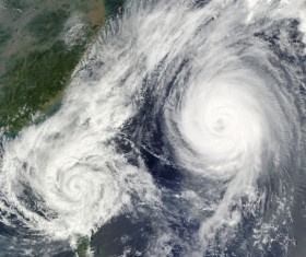 Cyclone cloud system Stock Photo 07